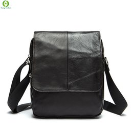 Wholesale Sales Fashion Leather Bag - Wholesale-Hot sale New fashion genuine leather men bags small shoulder bag men messenger bag crossbody leisure enuine leather bags