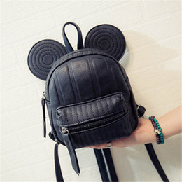Wholesale Red Mini Mouse - Wholesale- 2017 New Women Leather Backpack Cartoon children backpacks mini back pack backpacks for teenage girls small mouse