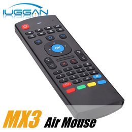 Wholesale Ir Learning - X8 Air Fly Mouse MX3 2.4GHz Wireless Keyboard Remote Control IR Learning 6 Axis for M8S T95 MXQ 4K Pro Plus Box