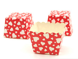 Wholesale Polka Dot Muffin Cups - new arrival baking cups Pink Polka Dot Baking Cup Grey Tiny Muffin Square Cupcake Cups chiffon cake cup case 37D