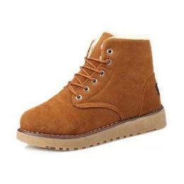 Wholesale Flats Fur Inside - Winter Shoes Women Thick Fur Inside Ankle Snow Boots For Women Cross Tied Thick Platform Flat Warm Botas Size 35-39