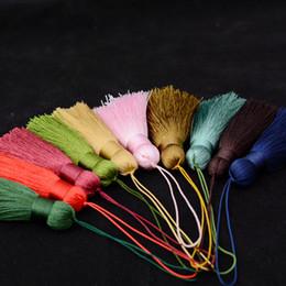 2019 diy desejo garrafa charme 10 cores de algodão artesanal borlas de seda charme pingente de borla para diy jóias chaveiros chaveiros pingente de colar saco