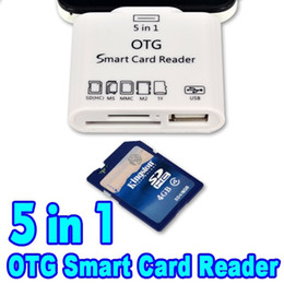 Wholesale Sd Card Camera External - 2015 EA14 5 in 1 Micro USB OTG Card Reader SD TF Card Adapter Camera Connection Kit for Samsung S5 S6 Note 4 for Sony Xperia