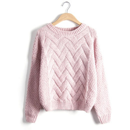 Wholesale Sweaters For Ladies - Wholesale- Fashion Women Lady Long Sleeve Knitted Sweater Tops Loose Casual knitting Winter Pullover For Gift