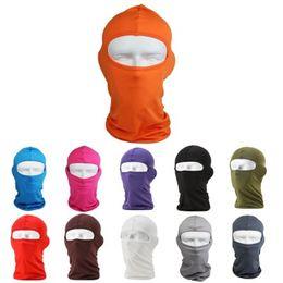 Wholesale face balaclava - HOT SALE Outdoor Protection Full Face Lycra Balaclava Headwear Ski Neck Cycling Motorcycle Mask
