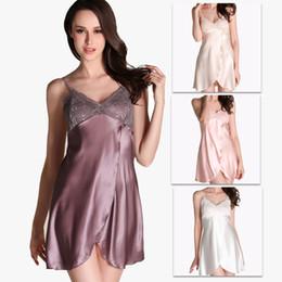 Wholesale Sexy Custom Lingerie - Sexy Lingerie Kimono Dress Silk Lace Sleepwear dress Pyjamas Sexy Customs for Women Langerie Nightwear Sex String Robe Underwear Bath Robe