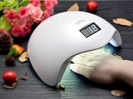 Wholesale Gel Manicure Cure Machine - 48W UV LED Lamp Nail Dryer SUN5 Nail Lamp With LCD Display Auto Sensor Manicure Machine for Curing Nail Gel Art Tool