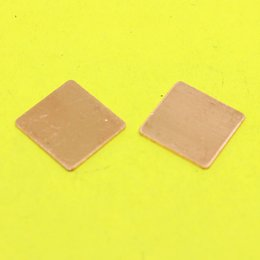 Wholesale Thermal Copper Shim - Wholesale- TL-098 15x15x0.8mm DIY Copper Shim Heatsink Thermal Pad Heat Sink Sheet For Laptop GPU CPU VGA Chip RAM cooler cooling