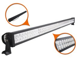 Wholesale Bar Light Camping - 52 inch 400W Curved Spot Flood Combo Beam Led Light Bar Driving Work Light for 4WD UTV Off-road Truck SUV Jeep Ford Wagon Camping Car 10-30V