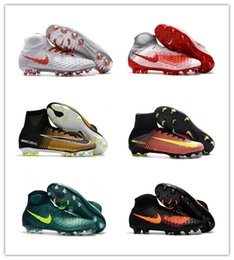 Wholesale Nude Kids - Top Quality Kids Mercurial Superfly FG CR7 Magista Obra Soccer Shoes Cristiano Ronaldo Cleats Neymar Footbal Shoes Cheapest Soccer Boots