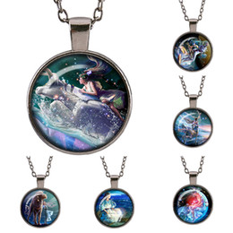 Wholesale Photo Guns - Brand new fashion Astrology 12 constellation sweater Gun black Necklace dome Glass HD photos Vintage Jewelry Pendant Good friend gifts