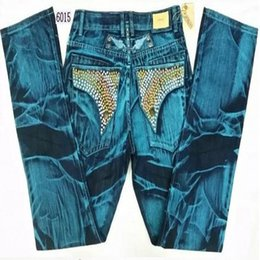 Wholesale Light Brown Coat Male - Wholesale- Robin Jeans Hommes Printing Coating Rhinestone Decoration Brand Jeans Embroidered Golden Wings Male In The Spring Autumn Jeans
