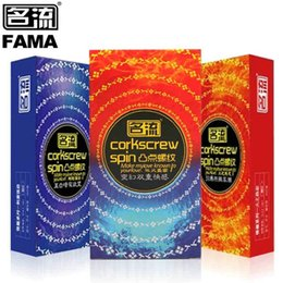 2017 types de feu 100pcs / lot 3 Types Choisissez Mingliu Ice And Fire Corkscrew Spin Préservatifs Natural Latex Condoms for Men Sex Toy peu coûteux types de feu