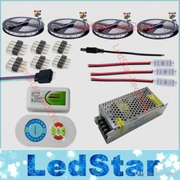 Wholesale Smd Led Dual Color - Dual color LED Strip 20m 15m 10m 5m Daylight flexible tape tiras Waterproof + RF Remote Controller + Power Adapter Free shipping
