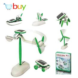Wholesale Solar Energy Butterfly - Wholesale-6 in 1 Educational Solar Kit DIY Changeable Building Science Robot Toy for Children Magic Plastic Green Energy Electric Toy Gift