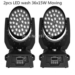 Wholesale Moving Head Light 15w - 2PCS 36*15W RGBWA 5 IN1 LED Zoom Moving Head Light 36x15W Zoom LED Moving Head Wash Light good quality