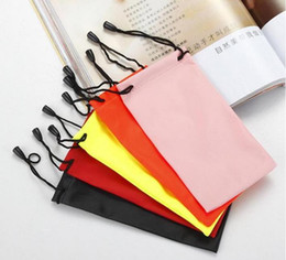 Wholesale Waterproof Leather Sunglasses Pouch - 500pcs waterproof leather plastic sunglasses pouch soft eyeglasses bag glasses case many colors mixed 17*9cm