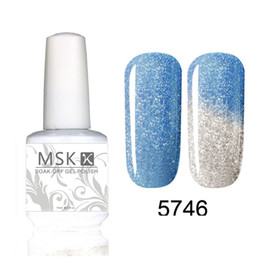 Wholesale Led Color Changing Nail Polish - Wholesale- MSK Gel polish Temperature Chameleon Thermal Color Change UV LED Soak Off Gel Nail Polish 15ml 5746