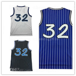 Wholesale Number 32 - Cheap Men's 32 Shaquille O'Neal Basketball Jersey Adult Embroidery O'Neal Sportswear Jerseys Throwback Mesh ALL HAVE Name and number