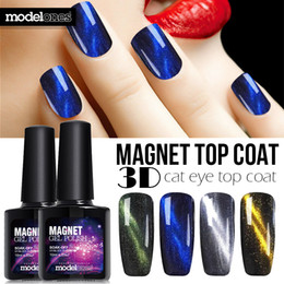 Wholesale Chameleon Nail Gel Polish - Wholesale- Modelones High Quality Cat Eyes Finish Gel Polish UV Top Coat Chameleon Magnet UV Nail Gel Polish Hot 4 Style Magnetic Top Coat