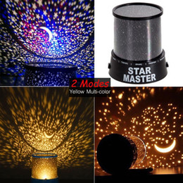 Wholesale Kids Star Projector - Wholesale- Room Novelty Night Light Projector Lamp 2 Modes Starry Star Sky Cosmos Master Kids Children Baby Bedroom Sleeping Lights A391