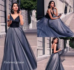 Wholesale Holiday Lights Train - 2017 Sexy V Neck Evening Dress Long Tulle Backless Formal Holiday Wear Prom Party Gown Custom Made Plus Size