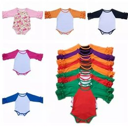 Wholesale Newborn Ruffle Rompers Wholesale - 2017 autumn rompers ruffle raglan baby romper long sleeve jumpsuits christmas onesies halloween children boutique clothing newborn clothes