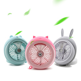 Wholesale Travel Fan Wholesale - Cute pet Spray fans electric Fan Lithium Battery Rechargeable Micro USB Multi-Function Fan Cool Cooler for Home and Travel