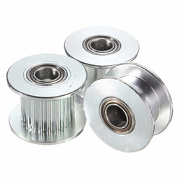 Wholesale Printer Rollers - Nudge GT2 H Type Passive Synchronous Wheel 20 Tooth Teeth Aluminum Timing Drive Pulley for 3D Printer Idler Pulley Wide 6mm 10mm
