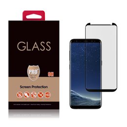 Wholesale 3d Glasses China - S8 NEW 3D Covered Full 3M Glue Tempered Glass Screen Protector Samsung Galaxy Creative Design Direct Shenzhen China OEM&ODEM Wholesales USA