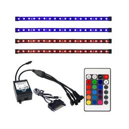 magnetische lichtstreifen Rabatt Großhandels-ALSEYE Fern RGB LED Streifen Licht 4 Kanäle Computer Fall RGB Fan Controller und 30 cm Sislicone Magnetstreifen (Duty-free)