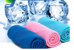 Wholesale Pva Magic Towel - 300pcs New Arrival Magic Ice Towel 90 * 38 cm Multifunctional Cooling Summer Cold Sports Towels Cool scarf Ice belt For Children Adult