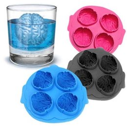 Wholesale 3d Cake Molds - New Fashion Brain Ice 3D Mold Silicone Mold Cake Tools Cutter Ice Molds Cream Mould Cooking Tools
