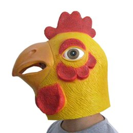 Wholesale Rooster Chicken Costume - Free shipping Chicken mask HALLOWEEN MASK cock Rooster Hen Head Face Animal Costume Halloween Party Prop Carnival latex Mask E1238