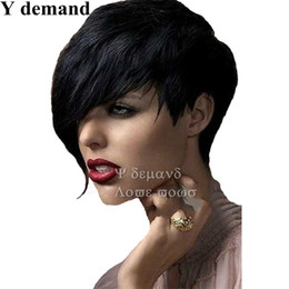 Wholesale Fake Cut - Fashion Cool Fake Hair Synthetic Full Wig for Women Heat Resistant Short Wigs for Black Women Cheap Pixie Cut Female