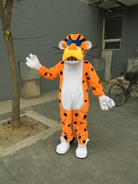 Wholesale Tiger Mascot Outfit - Adult Size Cartoon Tiger Mascot Costume Cool Boy Tiger Outfit Halloween Chirastmas Party Fancy Dress Custom-made