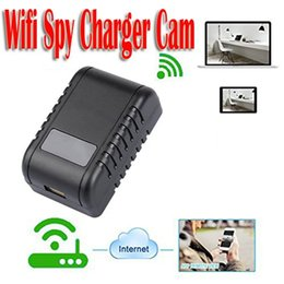 Wholesale Wifi Usb Security Camera - HD 1080P Wifi Hidden Adapter Camera Motion Activated AC Power Adapter USB Wall Charger Night Vision Camera Nanny Cam Home Security Camera
