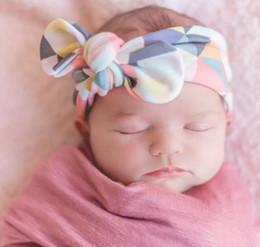Wholesale diy elastic hair band - New Cotton Baby knot anchor headband Floral Print headwarp for Girl DIY Toddler Elastic hair band knot head bands Turban INS headband