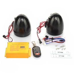 Wholesale Security Speakers - Wholesale- Motorcycle Scooter MP3 Player Speakers Sound System FM Radio Security Alarm Wireless Remote with USB SD Slot Motorbike MP3 Audio