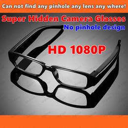 Wholesale Hd Eyeglass Camcorder - New Super Hidden Video Camera Glasses HD 1080P Digital Video Recorder DV Eyeglasses DVR Camcorder Support TF 8GB 16GB 32GB Memory card
