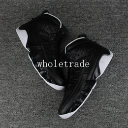 Wholesale Mens Black Leather Gloves - Free Shipping Air Retro 9 Baseball Glove basketball shoes Mens retro 9s Baseball Glove Black Sneakers For Sale Size US 8-13