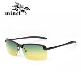 Wholesale day night vision polarized - Wholesale- day and night of the driver's glare glare night vision goggles fashion men's polarized glasses wholesale 3043RY