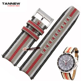Wholesale Sail Bracelet - Wholesale- Plaid plaid strap belt male fashion British sailing Buppee 22mm watch band for BU7600   BU7601