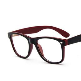 Wholesale Fake Glasses Frames - Wholesale- 2017 Brand New Hipster Eyeglasses Frames 2182 Oversized Prescription Glasses Women Men Fake Glass