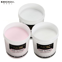 Wholesale Uv Gel Powder Nails - Wholesale-Pro 1 Pcs 120g Nail Art Transparent Crystal Carve Powder UV Gel Builder DIY Manicure Pink Clear White Glue