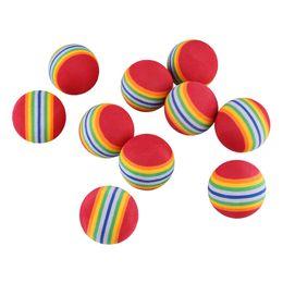 Wholesale Golf Ball Swing - Wholesale- 10Pcs Rainbow EVA Foam Sponge Golf Tennis Ball Swing Practice Training