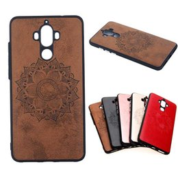 Wholesale Huawei Mate Cell Phone - Cell Phone Cases for Huawei Mate 9 cover made with PU leather for Huawei P9 Lite P8 Lite 2017 back case P10 Plus + shell for Honor 8 Lite