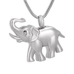 Wholesale Elephant Necklace Rhinestone - IJD9743 Elephant 316L Stainless Steel Cremation Pendant Necklace Pet Ashes Keepsake Urn Memory Necklace