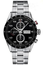 Wholesale Calibre 16 Black Dial - Free Shippng Luxury Brand men mechanical watches black dial automatic grand calibre 16 day date stainless steel mens dive watches TH506
