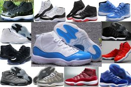 Argentina Alta Calidad Concord Gamma Azul Prom Night 11 Zapatos de Baloncesto Mujeres Hombres 11s Olympic Gold Bred Space Jam Moon Landing Athletics Sneakers 13 cheap gold land Suministro